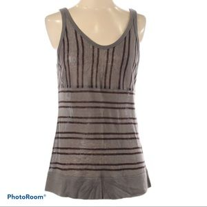 NWT T by ALEXANDER WANG rayon linen grey tank top